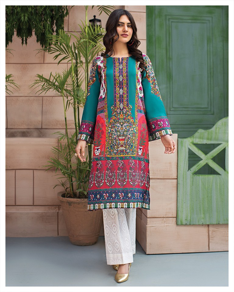 unstitched printed lawn shirt 2020