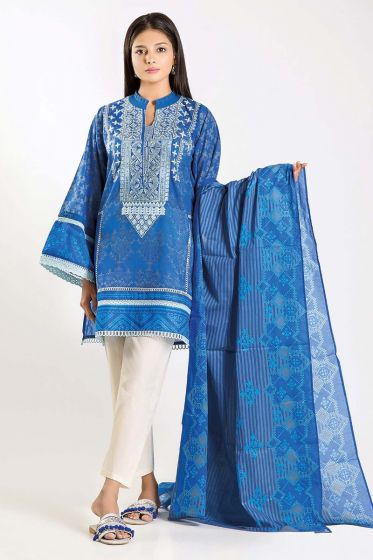 Khaadi-unstitched-lawn-embroidered-digital-print-suit