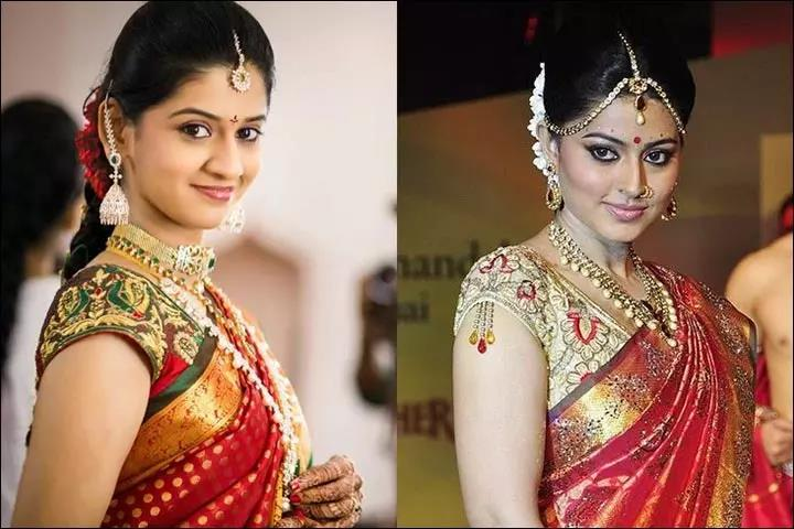color-Blouse-Designs-For-Silk-Sarees