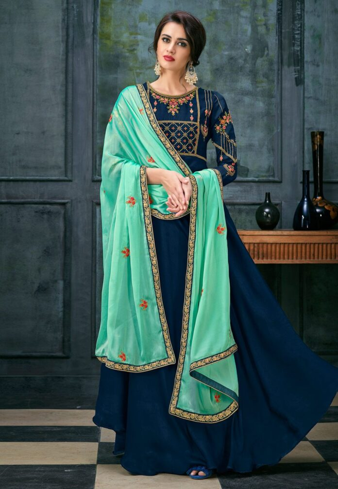 dusky-glowing-blue-anarkali-collection