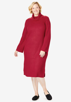 ribbed-turtle-neck-dress-woman-within