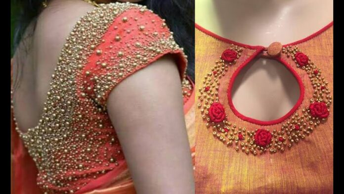 Blouse Along with Beads